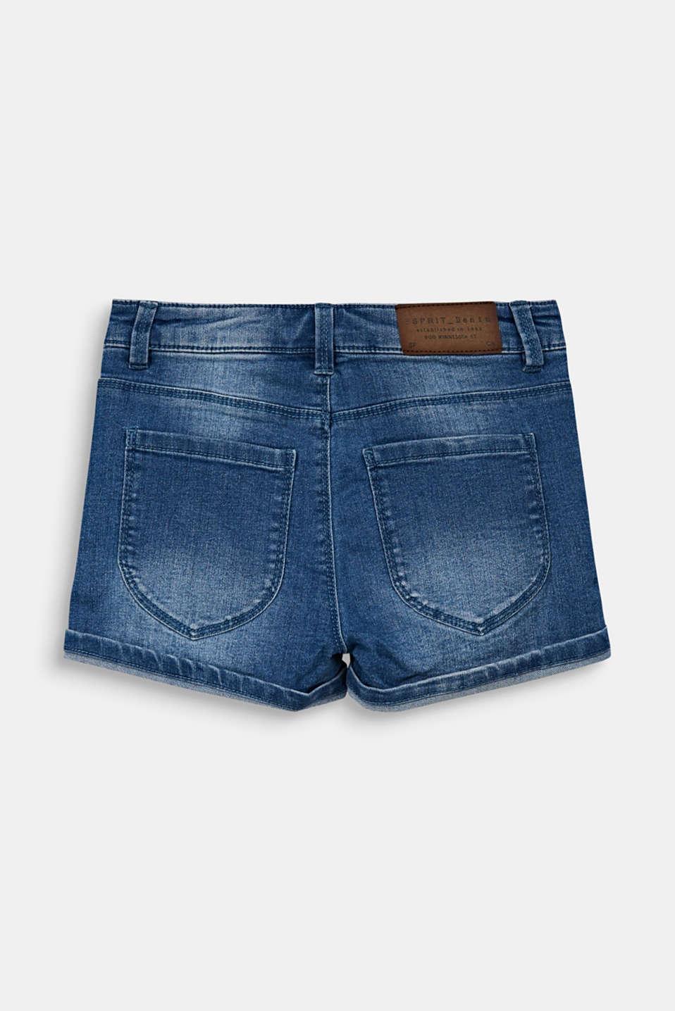 Denim shorts with an adjustable waistband, LCMEDIUM WASH DE, detail image number 1