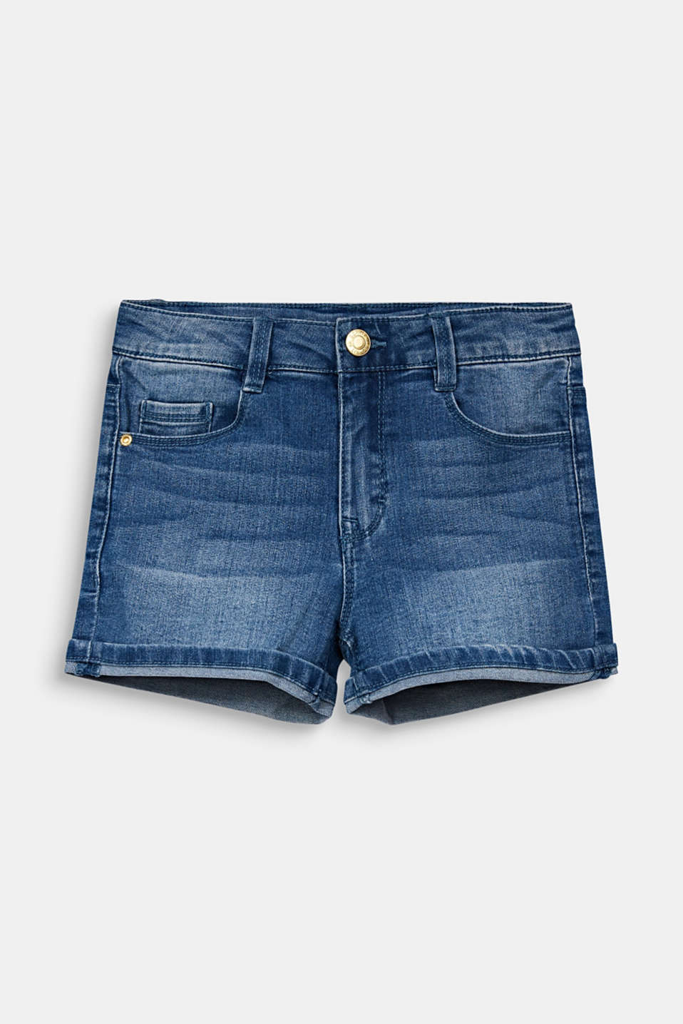 Esprit - Denim short met verstelbare band