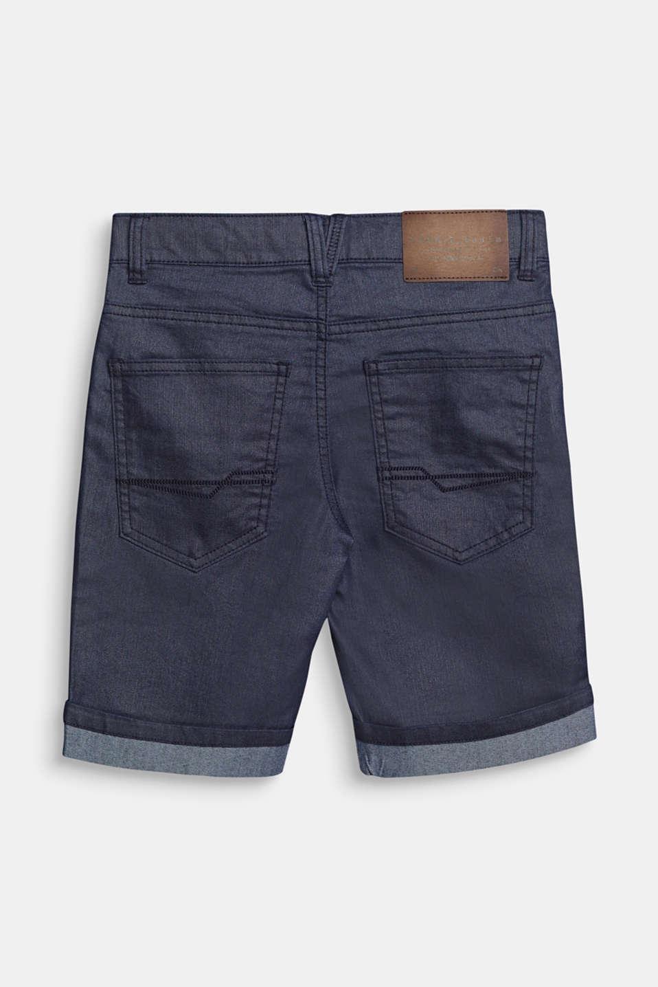 Denim shorts, LCRINSE WASH DEN, detail image number 1