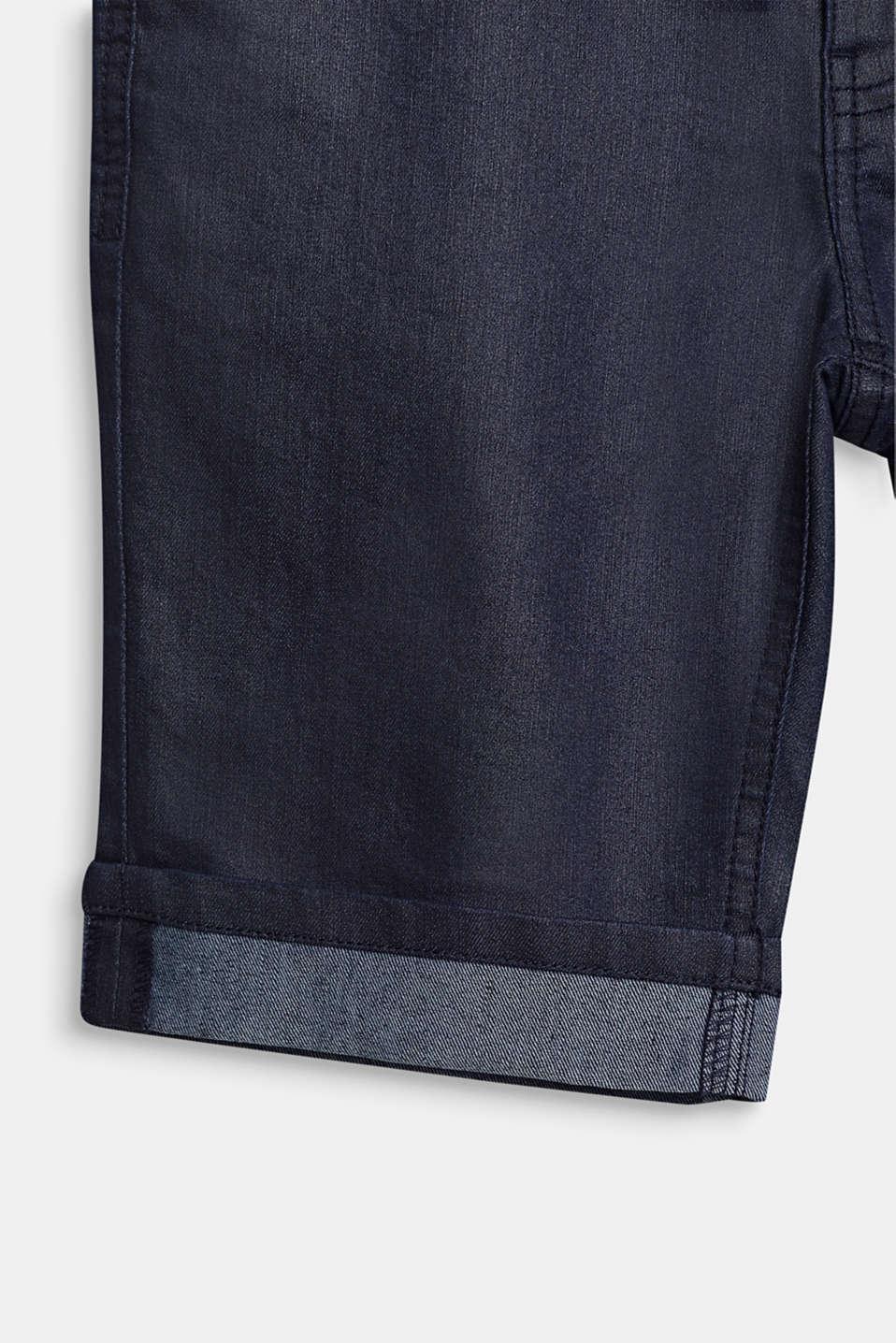 Denim shorts, LCRINSE WASH DEN, detail image number 3