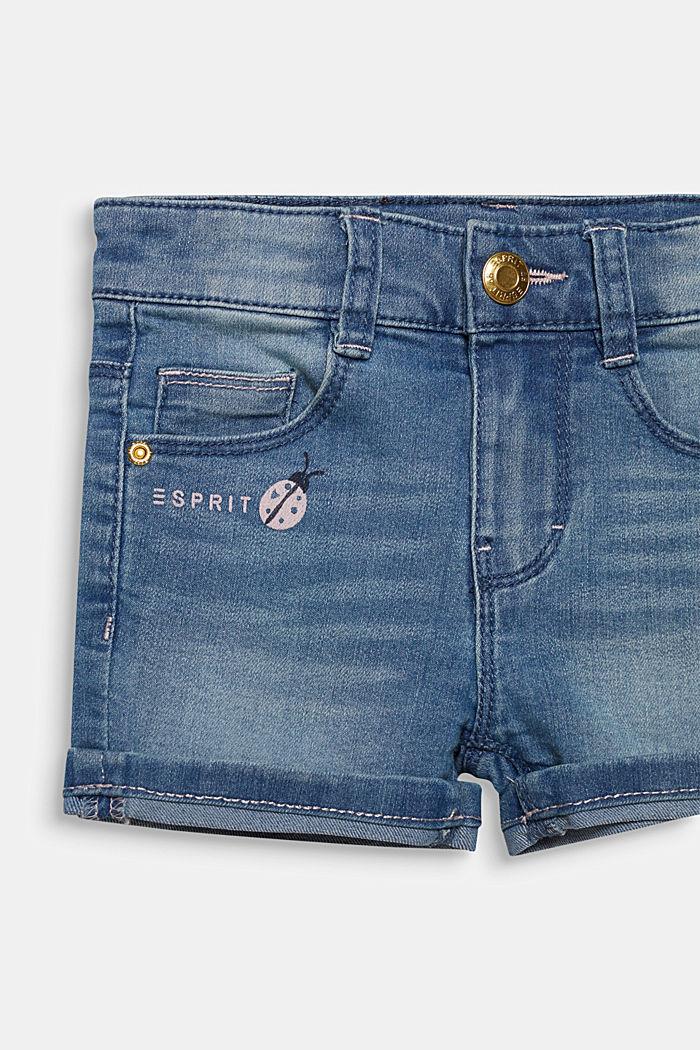 Denim-Shorts mit Turn-up-Säumen, Verstellbund, LIGHT INDIGO DENIM, detail image number 2