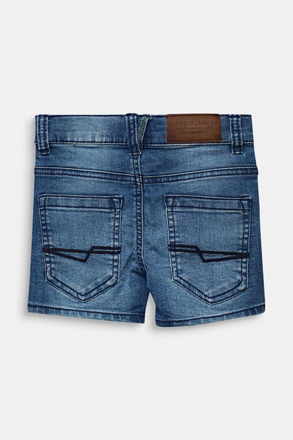 Denim shorts with an adjustable waistband, LIGHT INDIGO D, detail image number 1