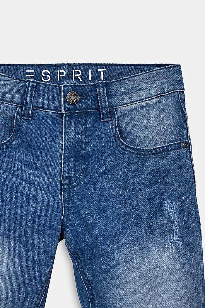 Jeans-Shorts im Used-Look, LIGHT INDIGO DENIM, detail image number 2