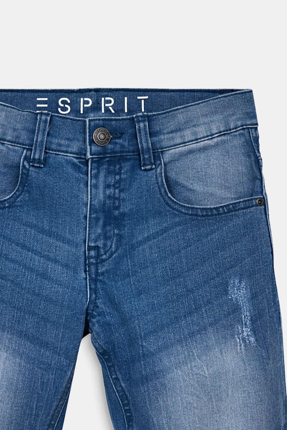 Denim shorts in a vintage finish, LCLIGHT INDIGO D, detail image number 2