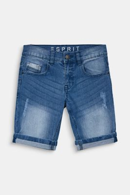 Denim shorts in a vintage finish, LCLIGHT INDIGO D, detail
