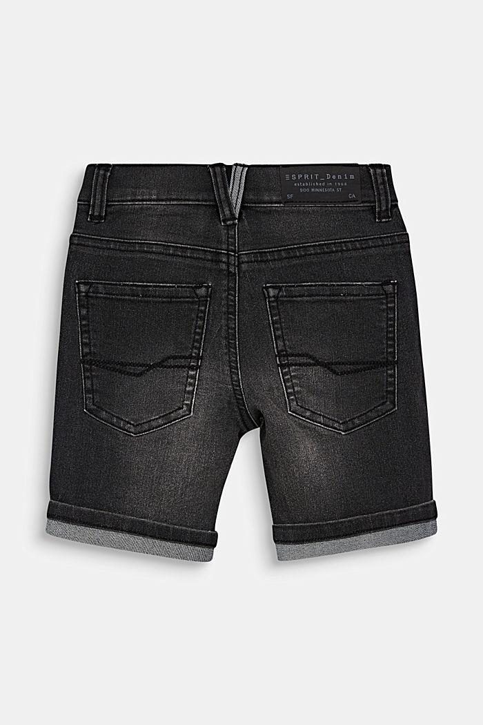 Denim shorts with vintage details