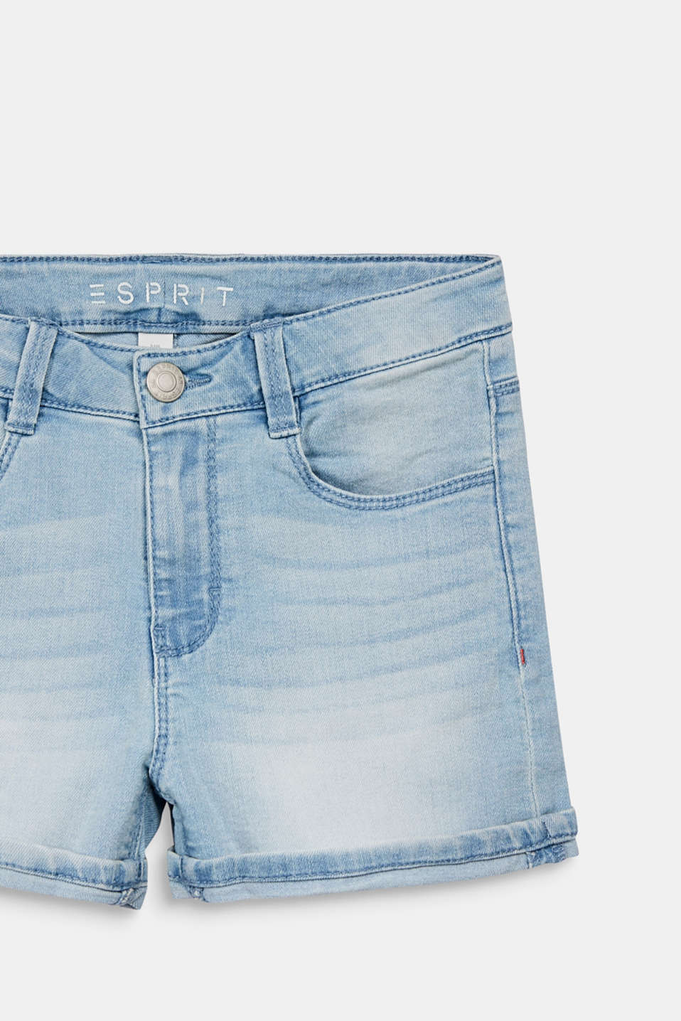 Denim shorts with an adjustable waistband, LCBLEACHED DENIM, detail image number 2