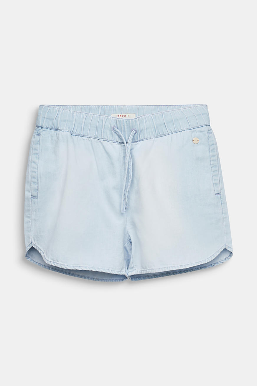 Lightweight denim shorts, 100% cotton