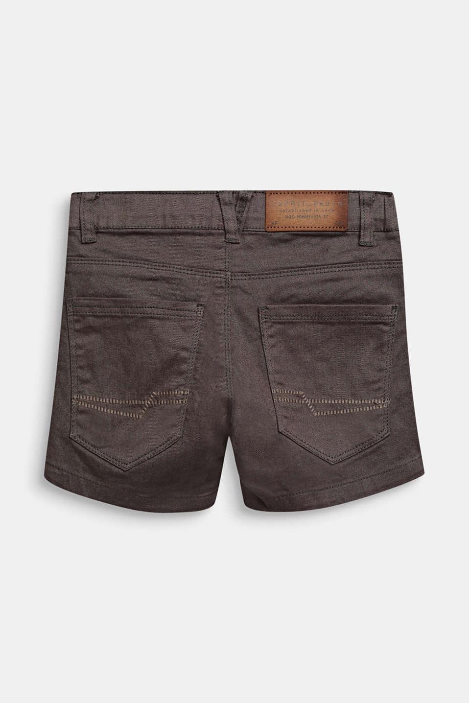 Stretch denim shorts in a slim fit, KAKI, detail image number 1