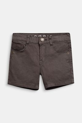 Stretch denim shorts in a slim fit, KAKI, detail