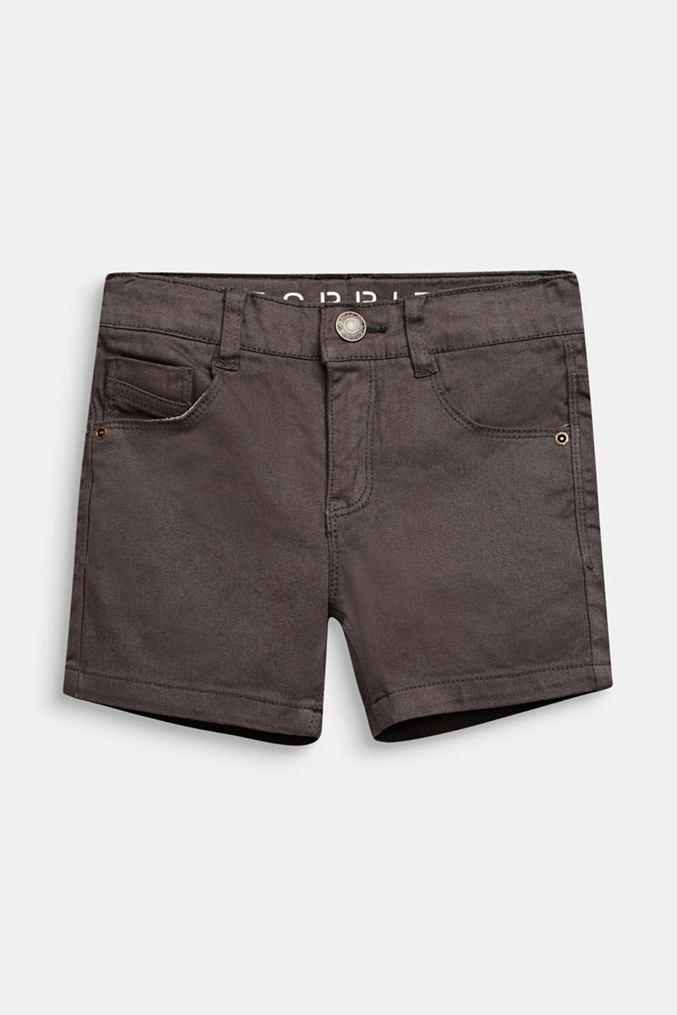 Esprit - Denimshorts med stretch, slim fit