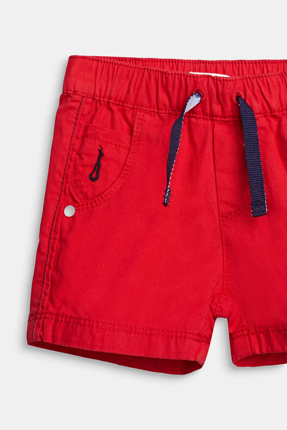 Woven shorts in 100% cotton, LCRED, detail image number 1
