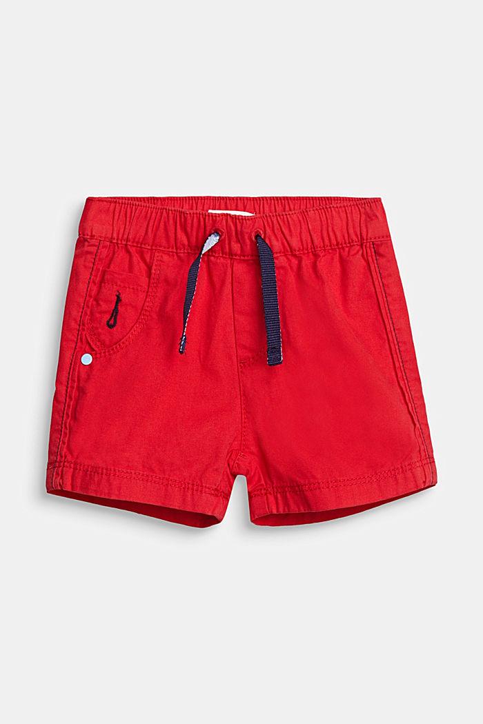 Web-Shorts aus 100% Baumwolle, RED, detail image number 0