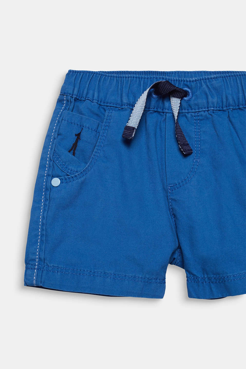 Woven shorts in 100% cotton, LCELECTRIC BLUE, detail image number 1