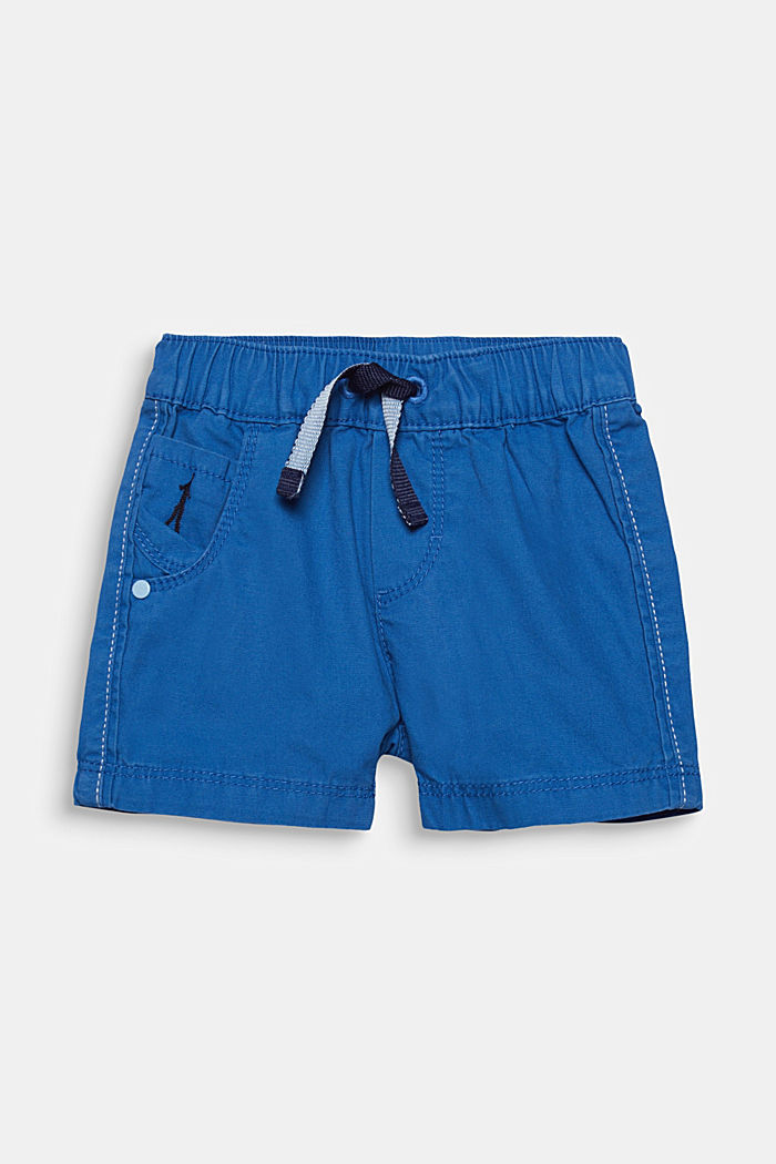 Woven shorts in 100% cotton, ELECTRIC BLUE, detail image number 0