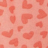 Woven shorts with a heart print, CORAL, swatch