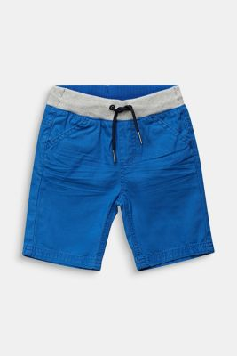 Shorts with a ribbed waistband, 100% cotton, ELECTRIC BLUE, detail