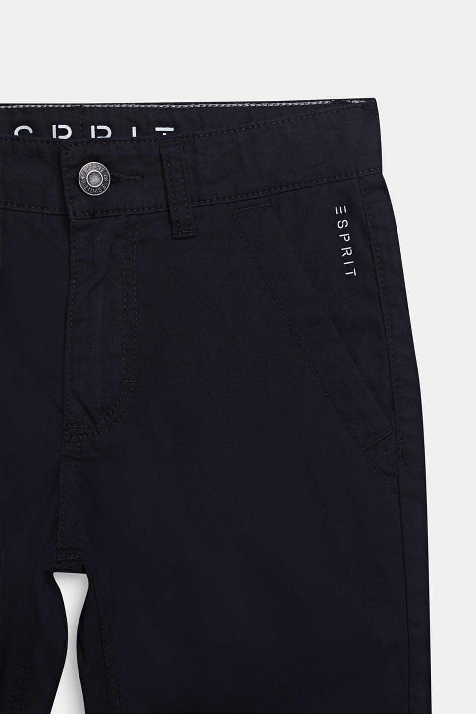 Bermuda shorts in 100% cotton, adjustable waistband, LCBLACK, detail image number 2