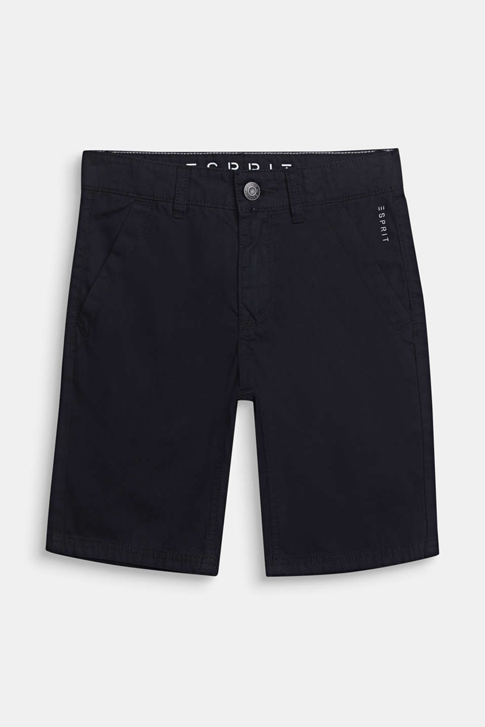 Bermuda shorts in 100% cotton, adjustable waistband, LCBLACK, detail image number 0