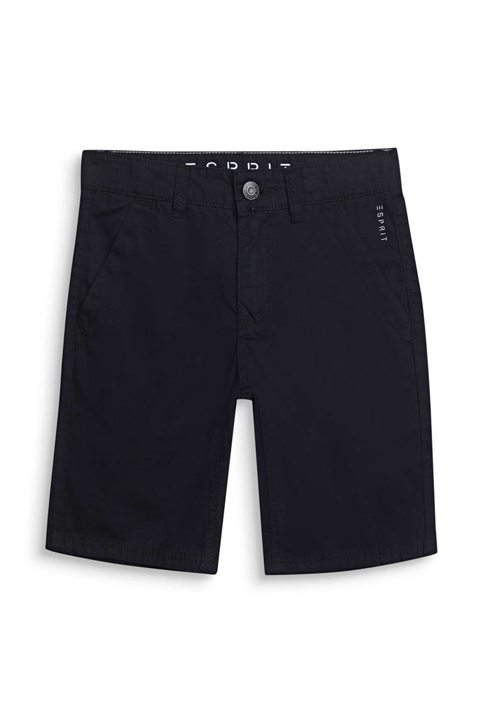 Bermuda shorts in 100% cotton, adjustable waistband, LCBLACK, detail image number 3