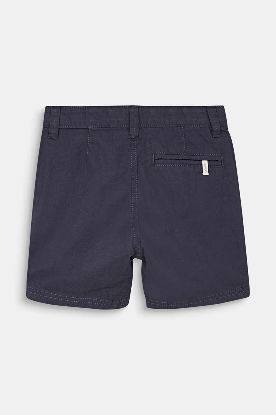 Woven shorts in 100% cotton, ANTHRACITE, detail image number 1