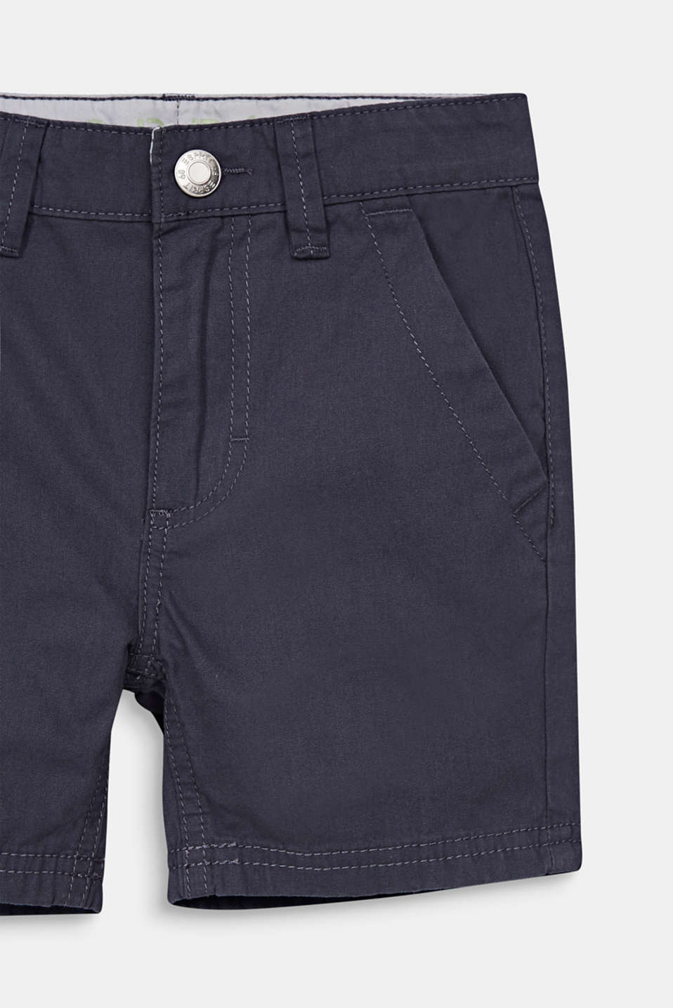 Woven shorts in 100% cotton, ANTHRACITE, detail image number 2