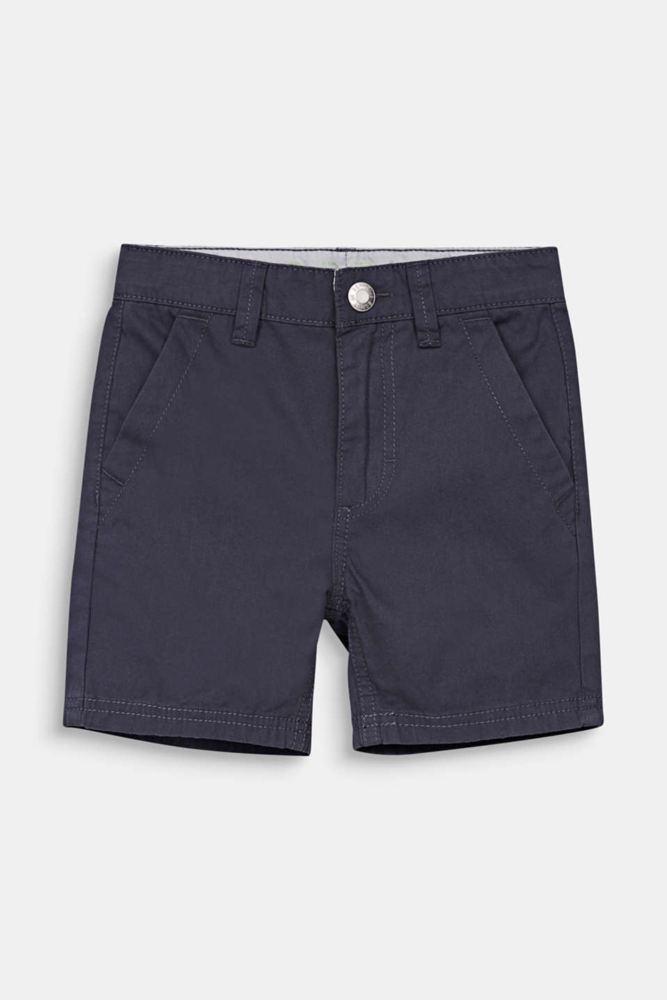 Woven shorts in 100% cotton, ANTHRACITE, detail image number 0