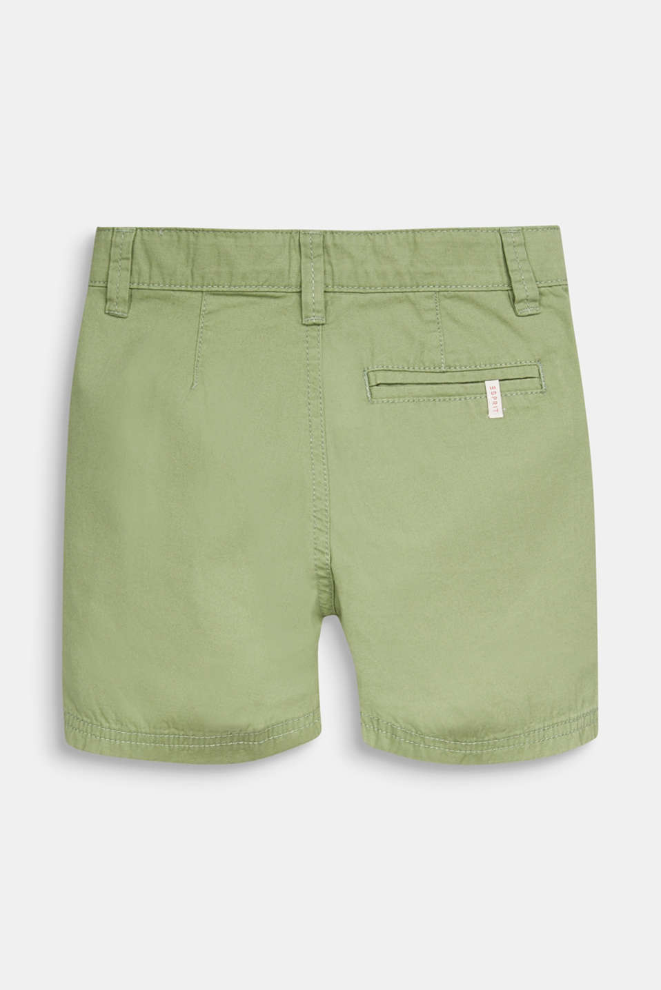 Woven shorts in 100% cotton, PASTEL GREEN, detail image number 1