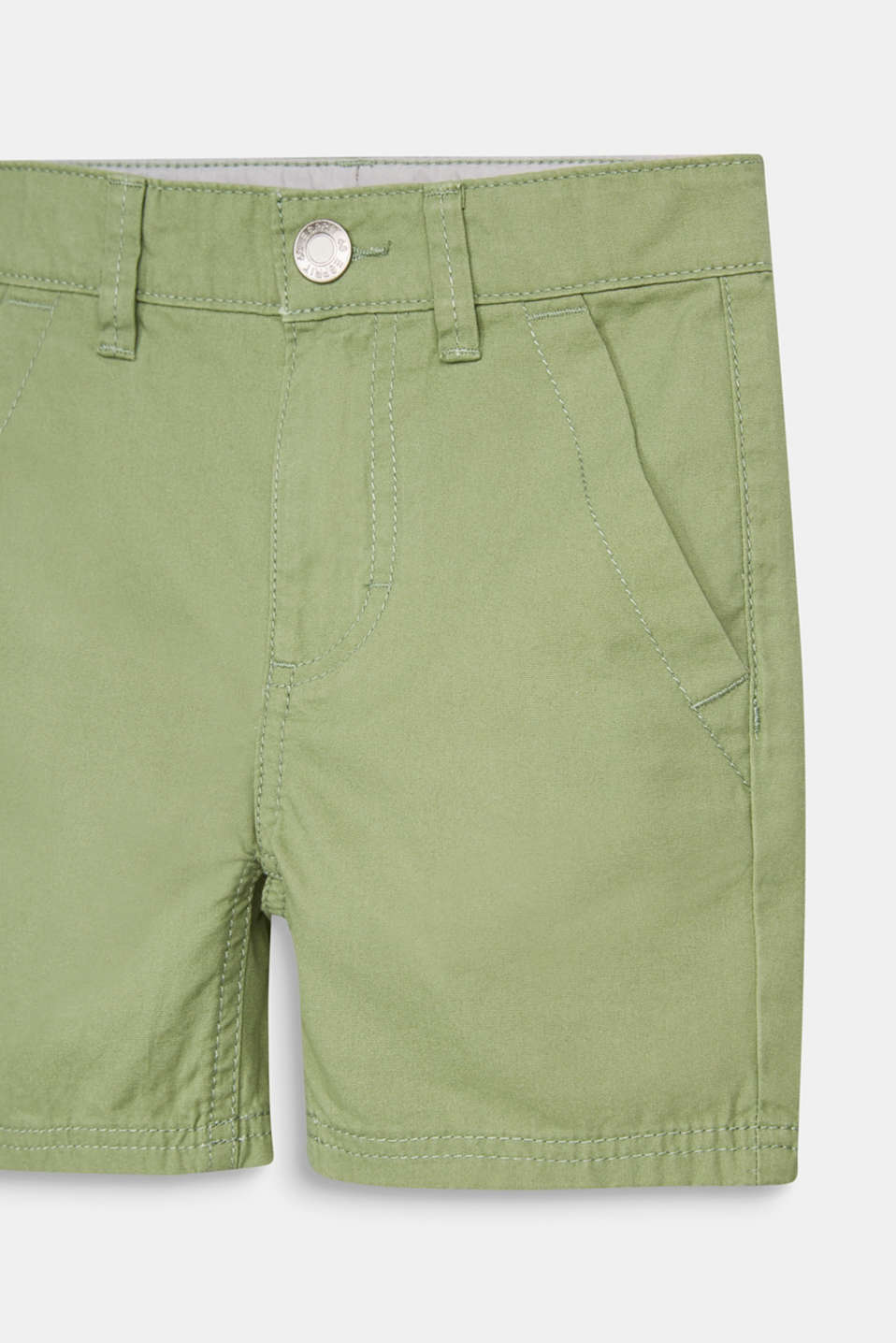 Woven shorts in 100% cotton, PASTEL GREEN, detail image number 2