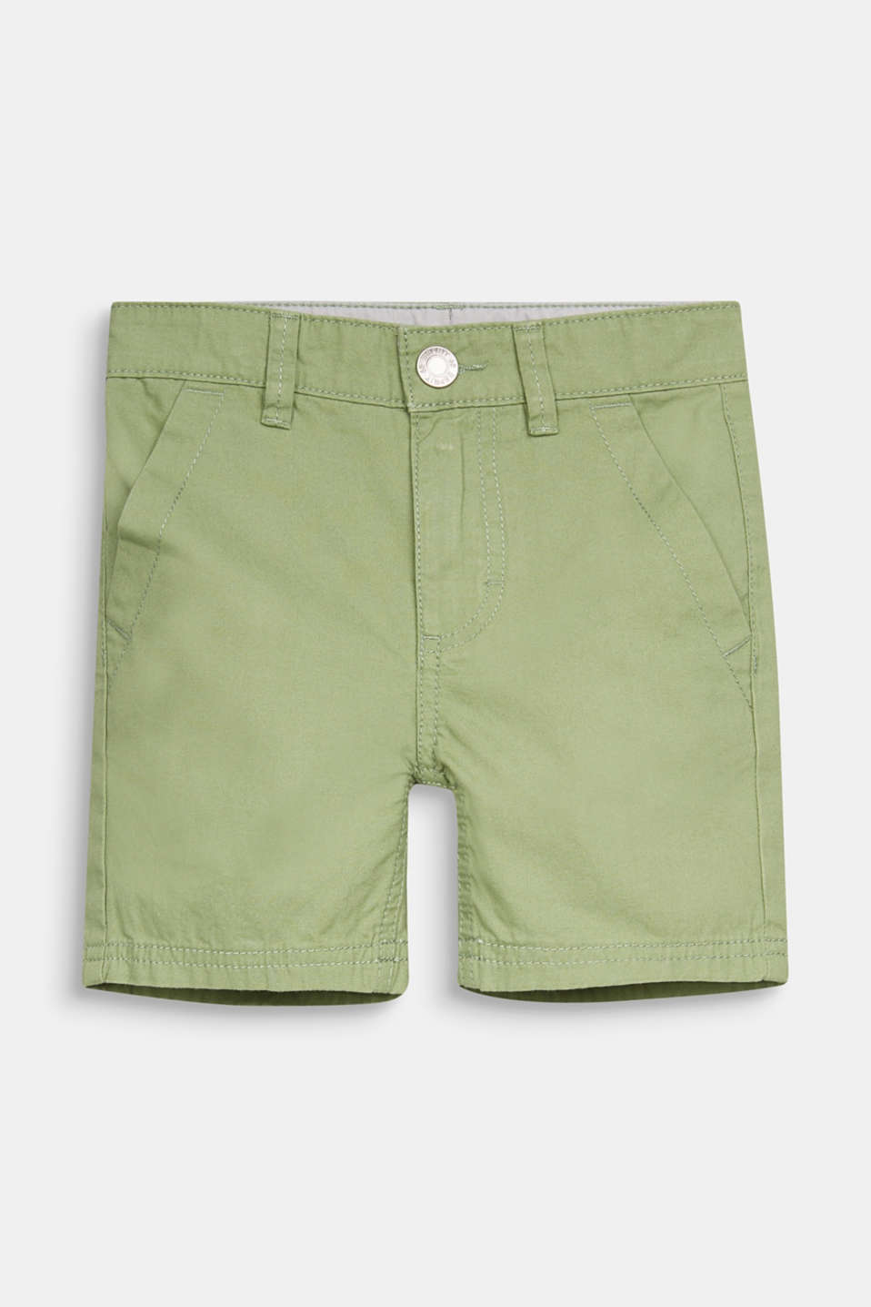 Woven shorts in 100% cotton, PASTEL GREEN, detail image number 0