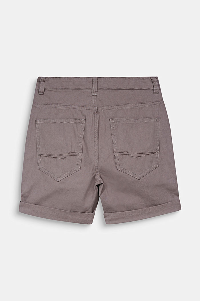 Woven shorts with a print, 100% cotton, GREY, detail image number 1