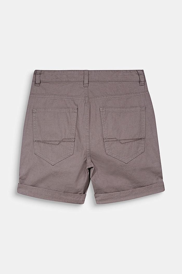 Web-Shorts mit Print, 100% Baumwolle, GREY, detail image number 1