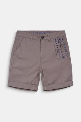Woven shorts with a print, 100% cotton, LCGREY, detail