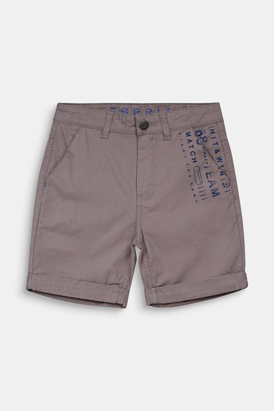 Esprit - Woven shorts with a print, 100% cotton