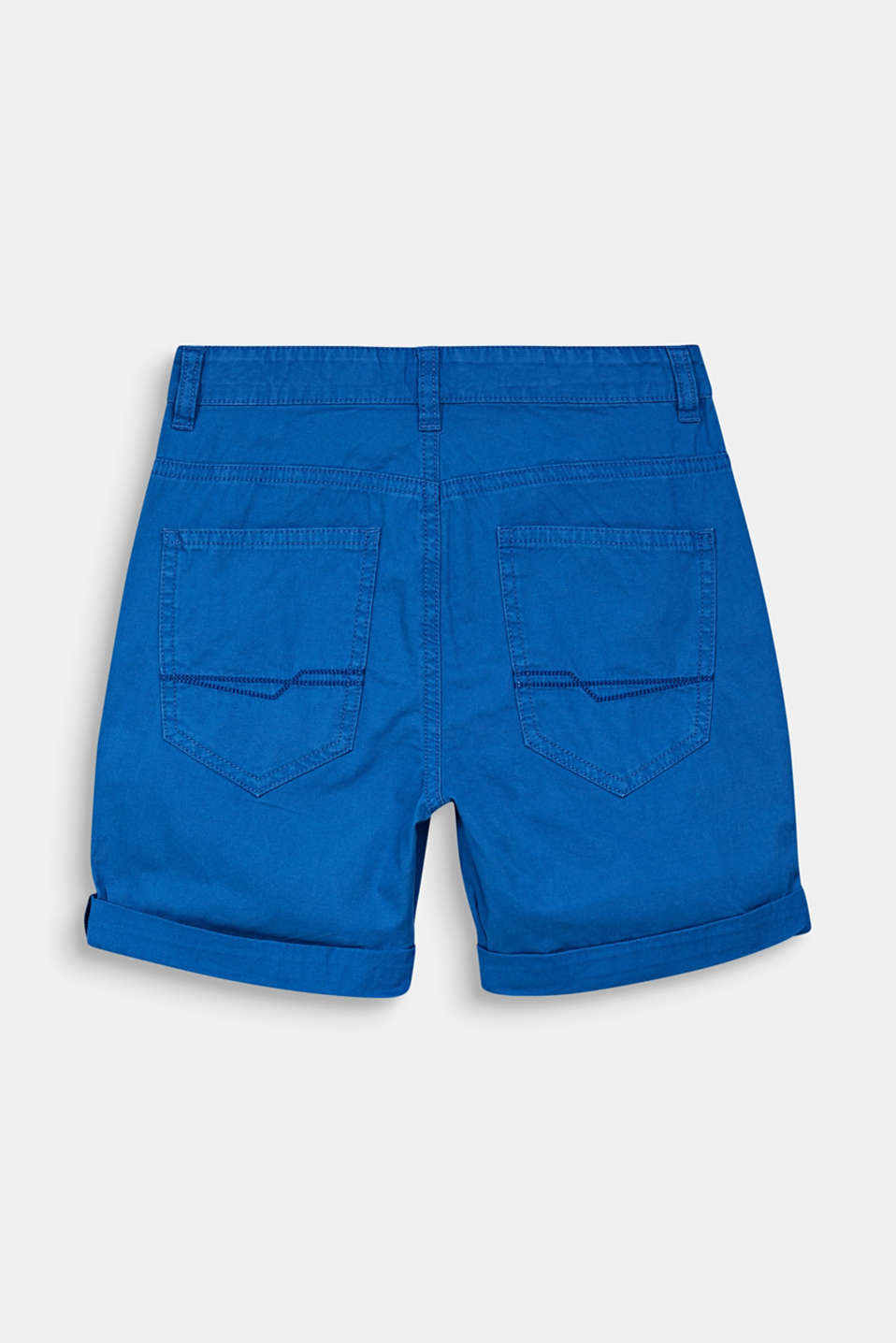 Woven shorts with a print, 100% cotton, LCELECTRIC BLUE, detail image number 1