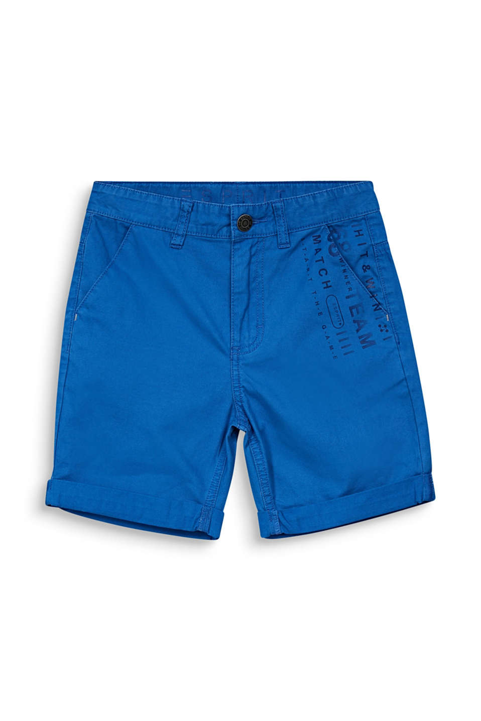 Woven shorts with a print, 100% cotton, LCELECTRIC BLUE, detail image number 3