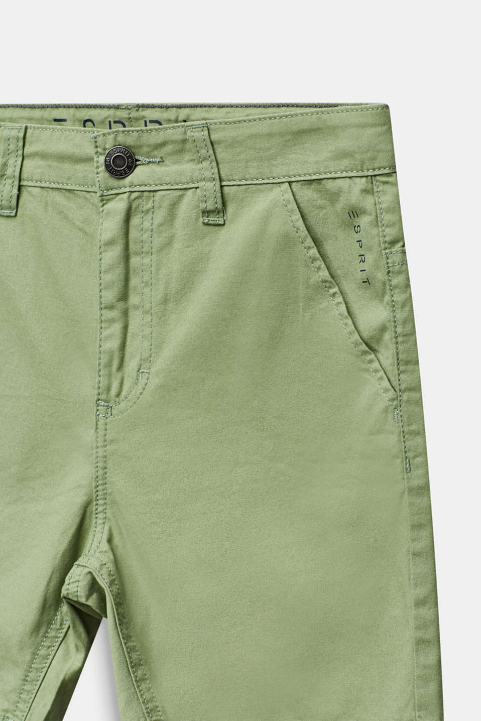 Woven shorts in 100% cotton, LCPASTEL GREEN, detail image number 2