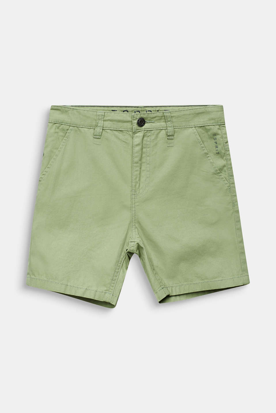 Woven shorts in 100% cotton, LCPASTEL GREEN, detail image number 0