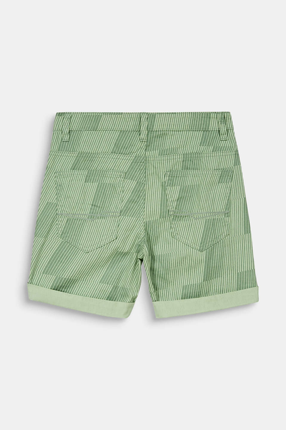 Shorts with a geometric print, 100% cotton, LCPASTEL GREEN, detail image number 1