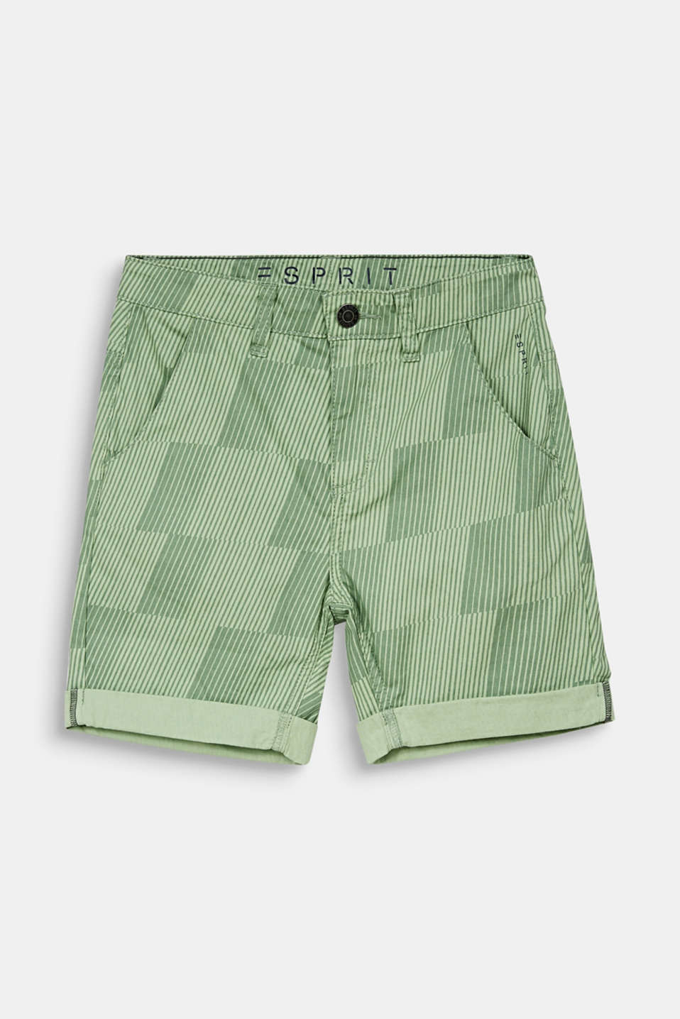 Esprit - Shorts with a geometric print, 100% cotton