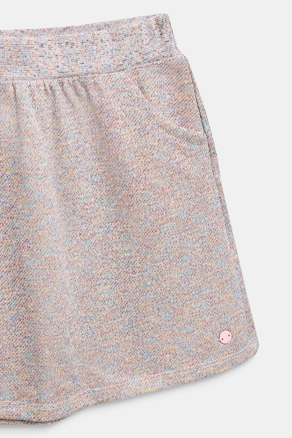 Sweatshirt fabric skirt in a colourful glitter look, MULTICOLOR, detail image number 2