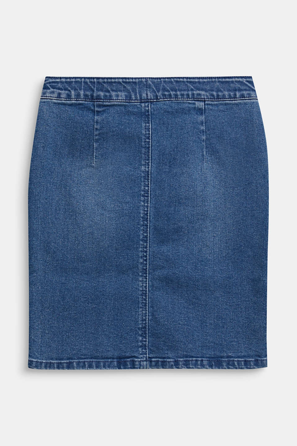 Denim skirt with a high-rise, adjustable waistband, LCLIGHT INDIGO D, detail image number 1