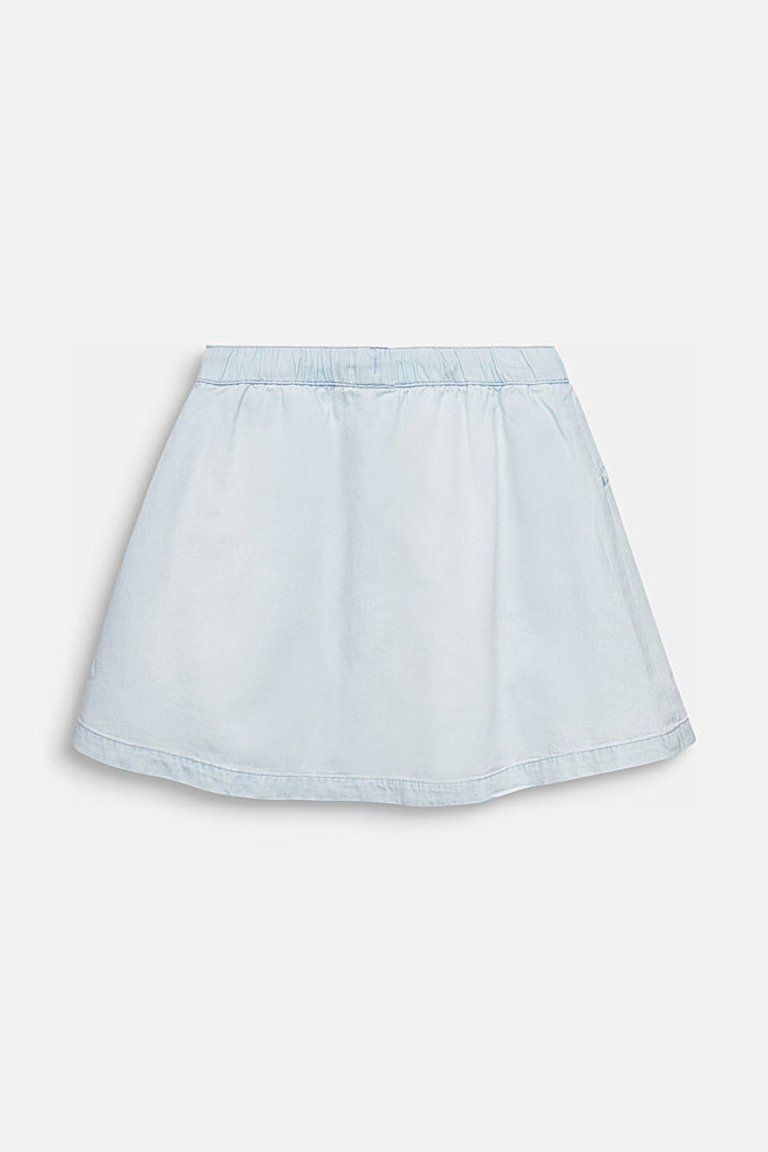 Denim skirt in 100% cotton, LIGHT INDIGO DENIM, detail image number 1
