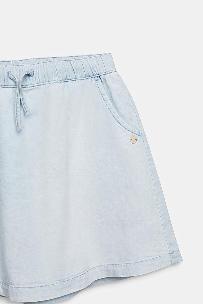 Denim skirt in 100% cotton, LIGHT INDIGO DENIM, detail image number 2