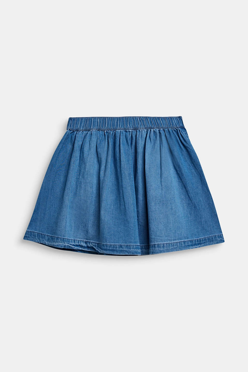 Denim A-line skirt, 100% cotton, MEDIUM WASH DE, detail image number 1
