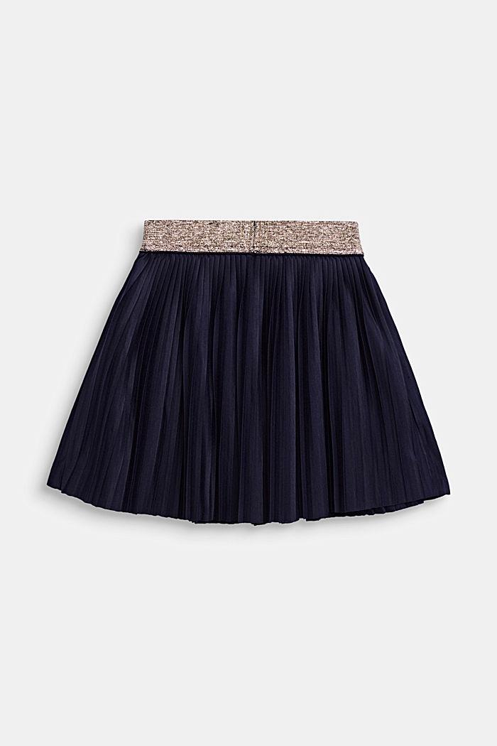 Žerzejová plisovaná sukně s pasem do gumy, NIGHT BLUE, detail image number 1