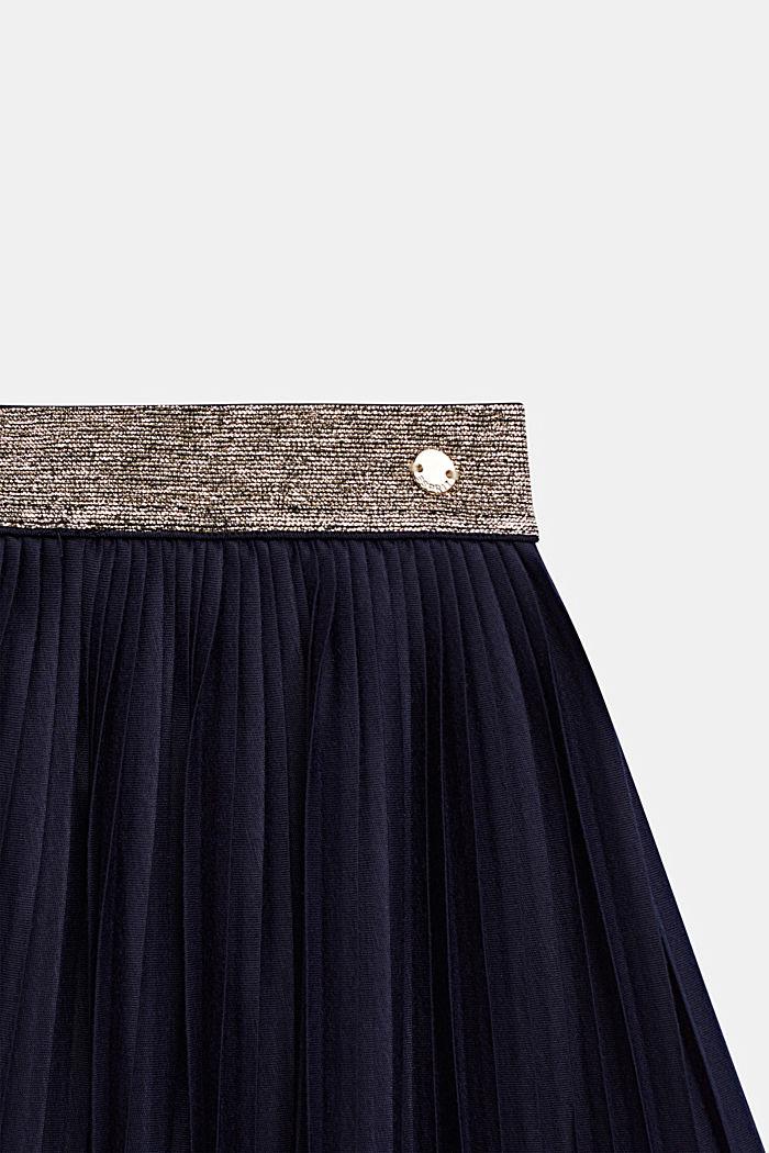 Žerzejová plisovaná sukně s pasem do gumy, NIGHT BLUE, detail image number 2