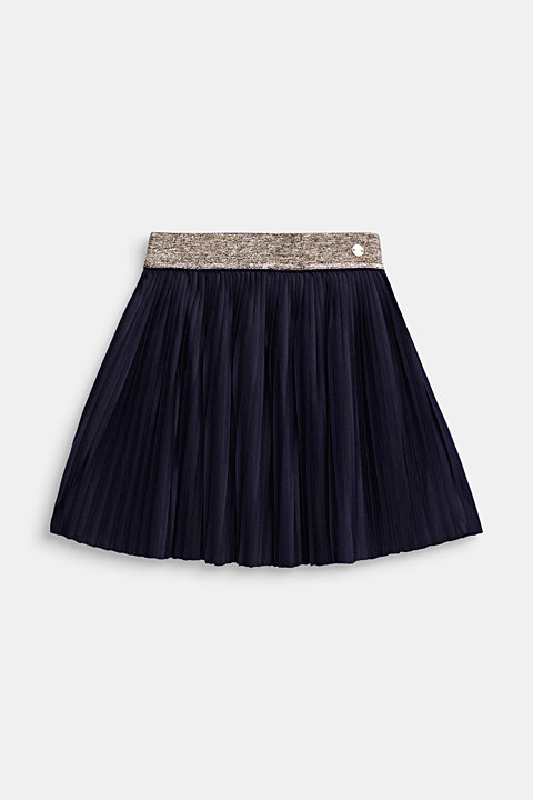 Pleated jersey skirt with an elasticated waistband