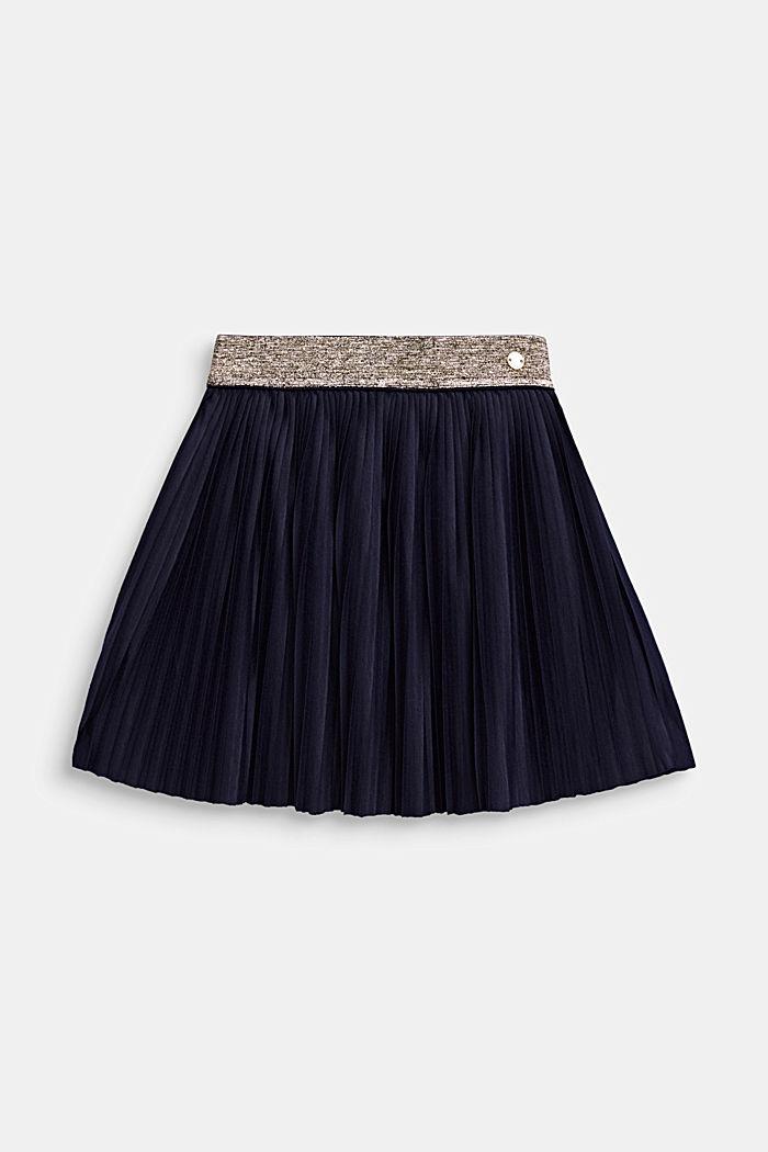 Žerzejová plisovaná sukně s pasem do gumy, NIGHT BLUE, detail image number 0