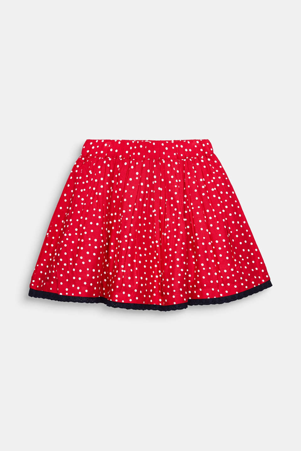 Polka dot skirt with lace and tulle, RASPBERRY, detail image number 2